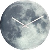 NeXtime Blue MoonGlow in the Dark - Klok - Rond - Glas - Ø30 cm - Multi