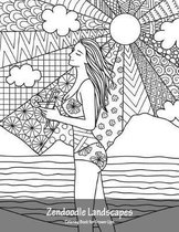 Zendoodle Landscapes Coloring Book for Grown-Ups 1