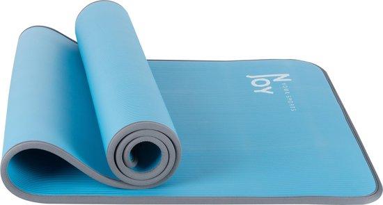 NJoy your sports - Yoga mat - NBR zachtschuim - 183x61x1cm - Blauw