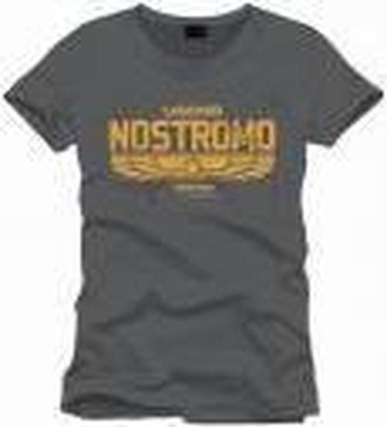 ALIEN - T-Shirt Nostromo Logo Officiel Grey (XXL)