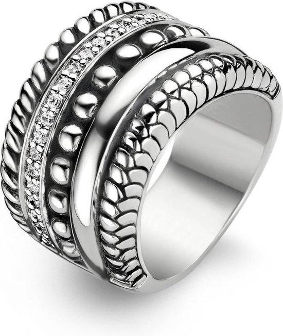 TI SENTO Milano Ring 1835ZI - Maat 58 (18,5 mm) - Gerhodineerd Sterling Zilver