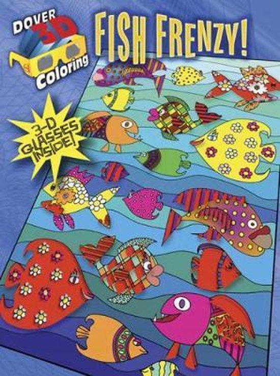 3-D Coloring Book - Fish Frenzy!