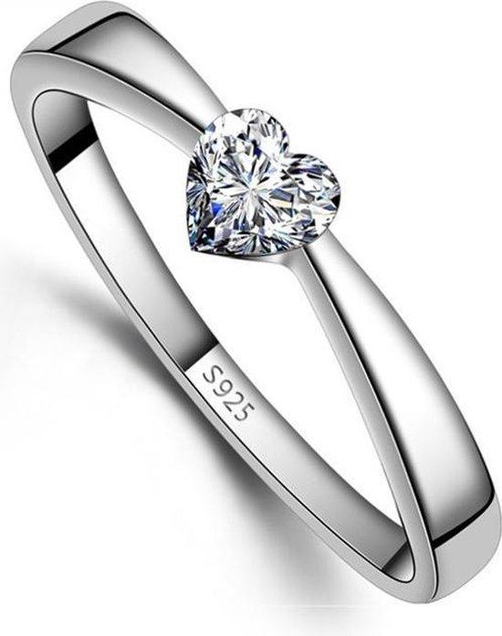 Zilveren Ring - Ring Hart - Damesring - 17.25mm