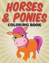 Horses & Ponies Coloring Book