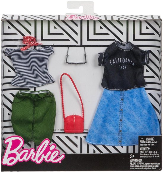 Barbie Kledingsetje Streetwear - 2 Outfits - Barbie