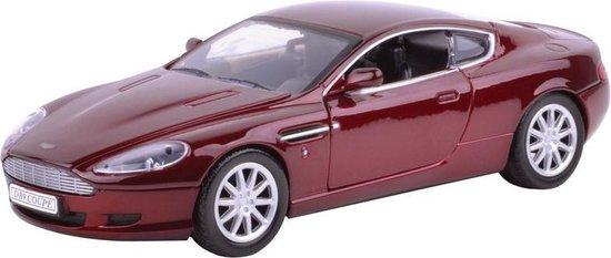 Modelauto Aston Martin DB9 rood 1:24 - speelgoed auto schaalmodel