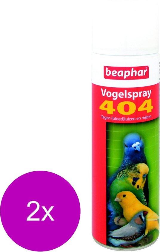 Beaphar 404 Vogelspray - Vogelapotheek - 2 x 500 ml