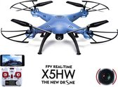 Syma X5HW drone met HD camera FPV live wifi quadcopter - Blue