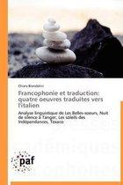 Francophonie Et Traduction