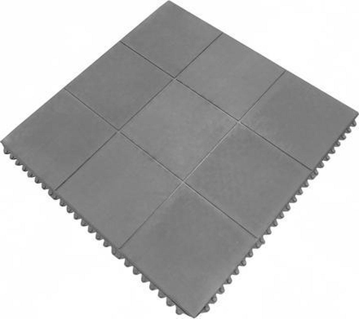 Rubber tegel 90 x 90 cm - Kliksysteem