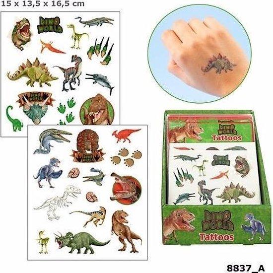 Dinosaurus plak tattoos voor jongens Dino World