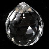 Feng Shui Kristallen facetbol 5 cm- Regenboog- raamdecoratie-Perfect en exquise kristal glas (van top k9 kristal glas materiaal )ambachtelijk handgemaakt. incl. paarse kleur organza zakje 9x7cm