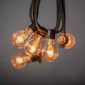 Konstsmide 2392-800 ®  - Snoerverlichting - Premium prikkabel 10 lamps  extra warmwit met dimbare en verwisselbare twin filament PowerLED - zeer energiezuinig en duurzaam - 450 cm - 24V - 4 traps dimmer - voor buiten of binnen