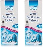 Water Zuiverings Tablettten - 2X50 stuks