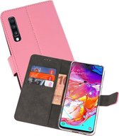 Wallet Cases Hoesje voor Samsung Galaxy A70 Roze