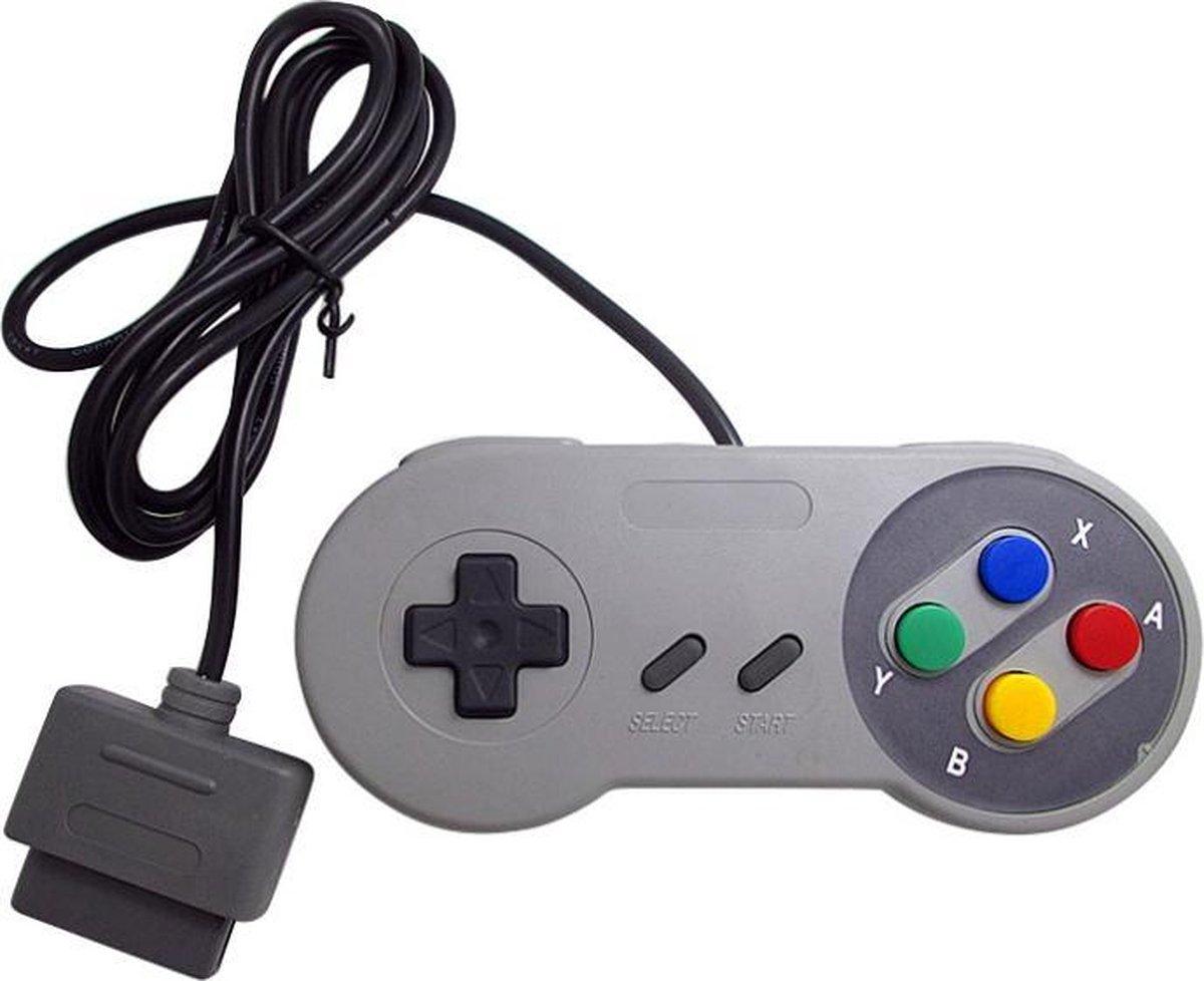 Controller Voor Super Nintendo Classic  - SNES - Gamepad Met Originele Adapter Aansluiting - Bedraad - AA Commerce