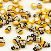 100x Houten bij - Knutsel bijtjes van hout - bijen