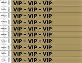 Standaard bedrukte polsbandjes - 50 stuks - VIP (goudkleurig)