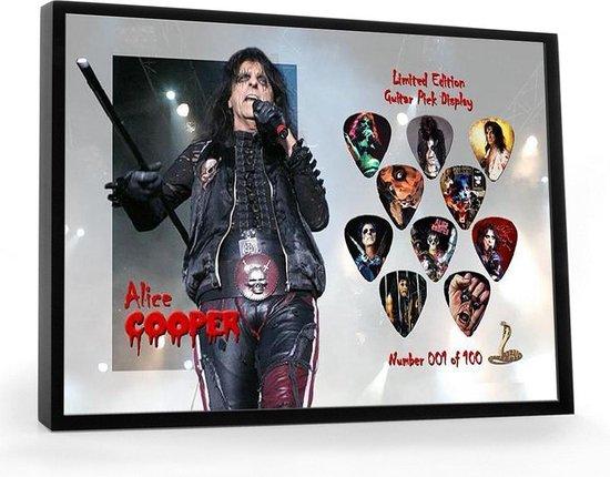 Plectrumdisplay Alice Cooper ingelijst
