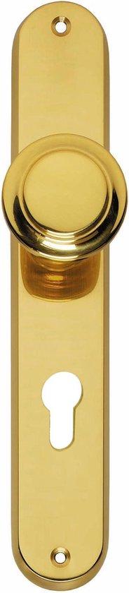 Intersteel - Knop op schild met profielcilindergat maat 72 mm