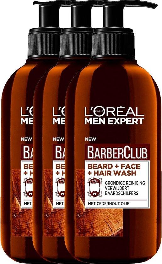 L'Oréal Men Expert - BarberClub beard - 3 x 200 ml - Voordeelverpakking
