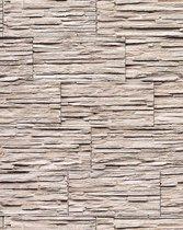 Steen behang EDEM 1003-36 glasvezel look steenoptiek structuur vinylbehang met reliëfstructuur gebroken wit crème grijs