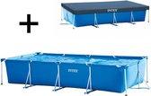 Zwembad Intex Frame Pool 450 x 220 x 84 cm met afdekhoes - Bundelpakket
