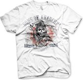 SONS OF ANARCHY - T-Shirt Distressed Flag (S)