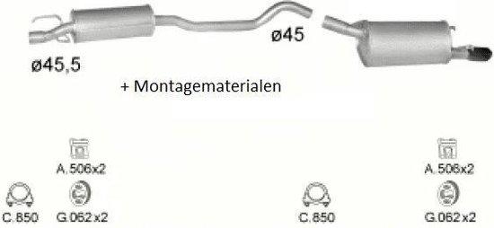 Complete Uitlaat Opel Corsa B 1.4-16V 1.6-16V (Set80)