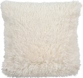 Dutch Decor Fluffy - Sierkussen - 45x45 cm - Ivory