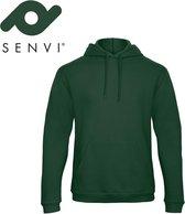 Senvi Fleece Crew Hoodie - Kleur: Groen – Maat L