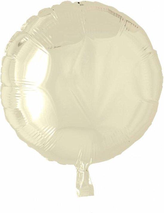 Helium Ballon Rond Ivoor 46cm leeg