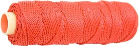 Metselkoord nylon rol rood 50 meter