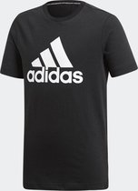 adidas MH BOS T Jongens Sportshirt - Black/White - Maat 128