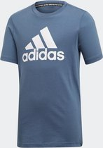 adidas MH BOS T Jongens Sportshirt - Tech Ink/White - Maat 140