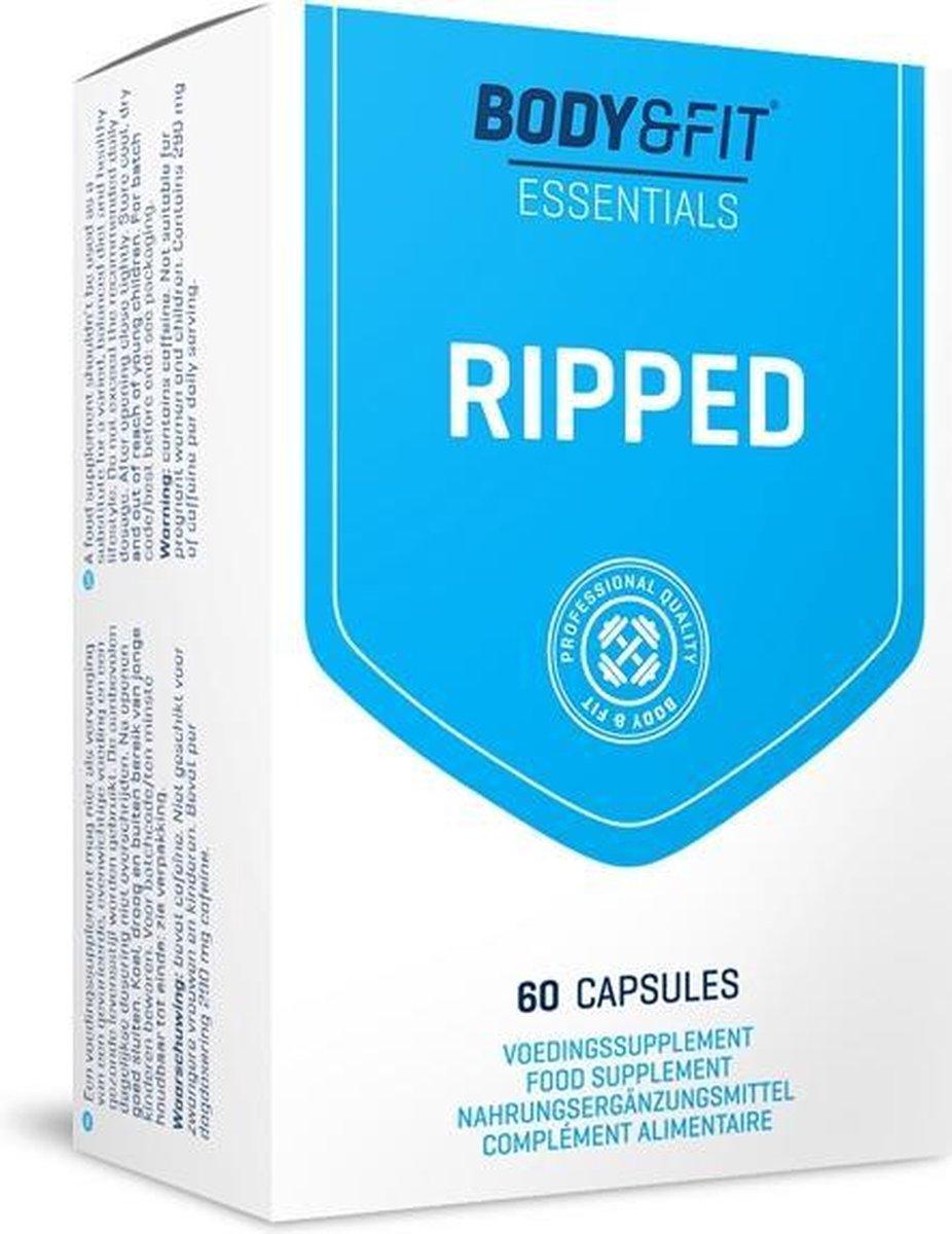 Body & Fit  Ripped Fatburner - Fat Burner / Vetverbrander - 60 Capsules - 2 Maanden Verpakking