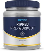 Body & Fit Ripped Pre-Workout - 225 gram (30 servings) - Fruit Punch