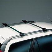 Twinny load Universele Dakdragerset Twinny Logico Key 120cm Zwart Staal voor auto's met open reling