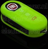 Fiat SleutelCover - Glow in the dark / Silicone sleutelhoesje / beschermhoesje autosleutel