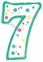 Cijfer / nummer kaarsje - 7 - Wilton