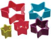 Colourworks - 5-Delige Koekjes Uitsteek Bakvorm Set – Ster