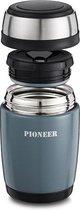 Vacuum Thermos Voedselcontainer 0,58L - Metallic Grijs - Pioneer