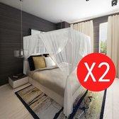 vidaXL Klamboe vierkant met 3 openingen 2 st