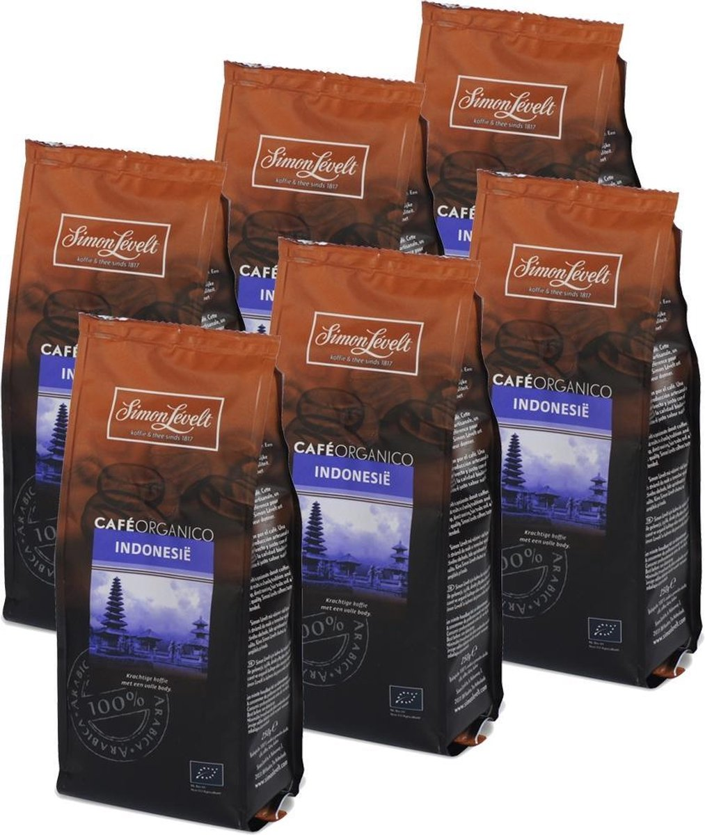 Simon Lévelt Indonesie gemalen koffie - 6 x 250 gram - Simon Lévelt