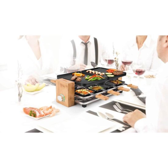Princess 162910 Raclette Pure 8 - Gourmetstel - 8 personen