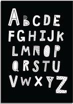 Kinderkamer poster ABC poster DesignClaud - Alfabet poster - Zwart - A4 poster