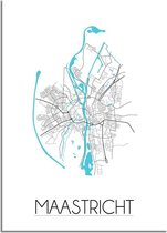 DesignClaud Maastricht Plattegrond poster A4 poster (21x29,7cm)
