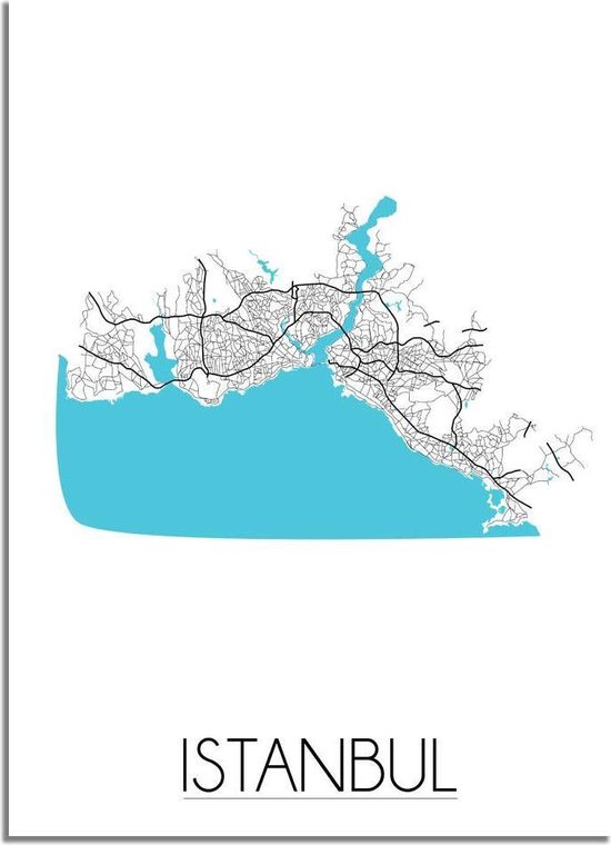 DesignClaud Istanbul Plattegrond poster A4 poster (21x29,7cm)
