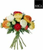 Mica Decorations ranonkel boeket maat in cm: 22 oranje