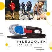 Inlegzolen Tegen Hielspoor En Onderdrukking Van Pijn- Gelzolen / Inlegzooltjes - Maat 35/36/37/38/39/40/41/ Gel Zooltjes Zolen - Sport Schoenen Zooltjes - Zwart